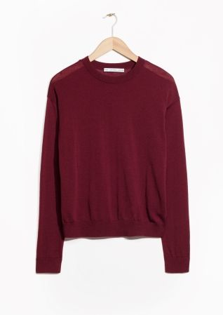 & Other Stories image 1 of Metallic Wool Sweater in Dark Red