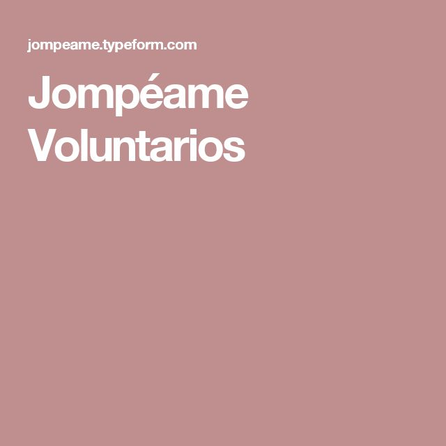 Jompéame Voluntarios
