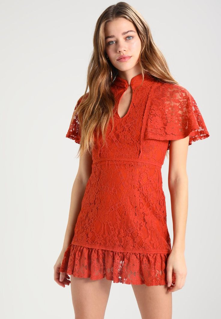 Fashion Union SANTELLA - Vestito elegante - rust lace - Zalando.it