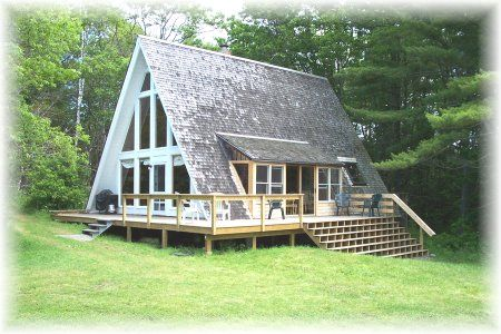 Pictures of Cute Little a Frame Houses : Shingled A Frame House Two Vertical Walls To Lean Dressers Cabinets Precious Walls For Windows And Doors