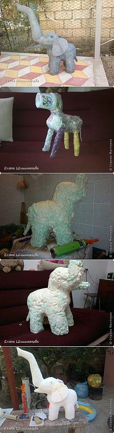 Садовая фигурка своими руками - слоник из монтажной пены | Самоделкино