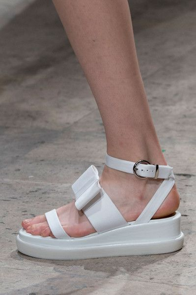 Maison Rabih Kayrouz Spring 2015...???...Grandma's orthopedic  sandals crossed with nursing shoes!!