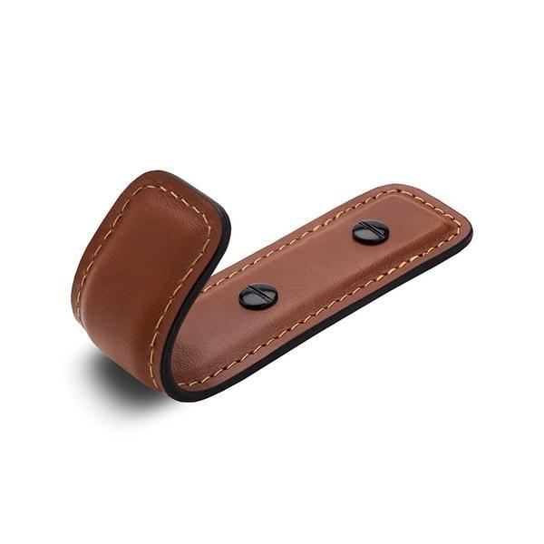 Leather Half Coat Hook | British Tan