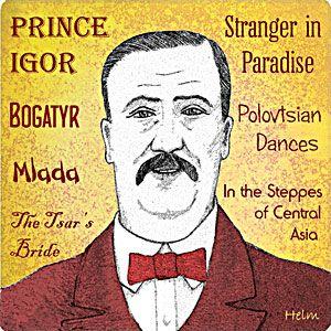 Portrait of the Russian 19th century composer Alexander Borodin.