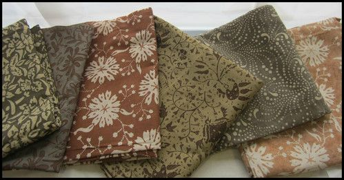 Textiil - Natural Color Batiks from Indonesia.  Available by the meter.