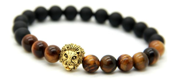 Black and brown Lion Bracelet  #Lion #bracelet #accessories