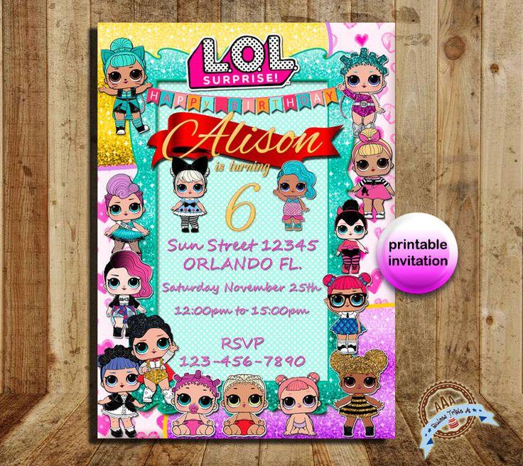 LOL surprise, LOL, Lol surprise invite, lol surprice party, lol surprice doll, lol invitation, lol doll, lol party, lol birthday, invitation