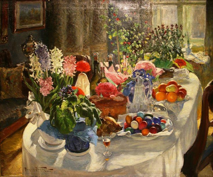 Маковский А.В. «Пасхальный стол 1916»