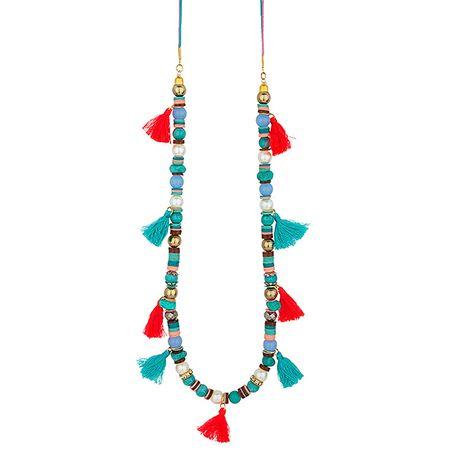 Achilleas Accessories - Προϊόντα : New Collection | SS 2015 / Bijoux / Κολιέ / ΚΟΛΙΕ ΜΕ ΧΑΝΤΡΕΣ & ΦΟΥΝΤΙΤΣΕΣ MAURITIUS