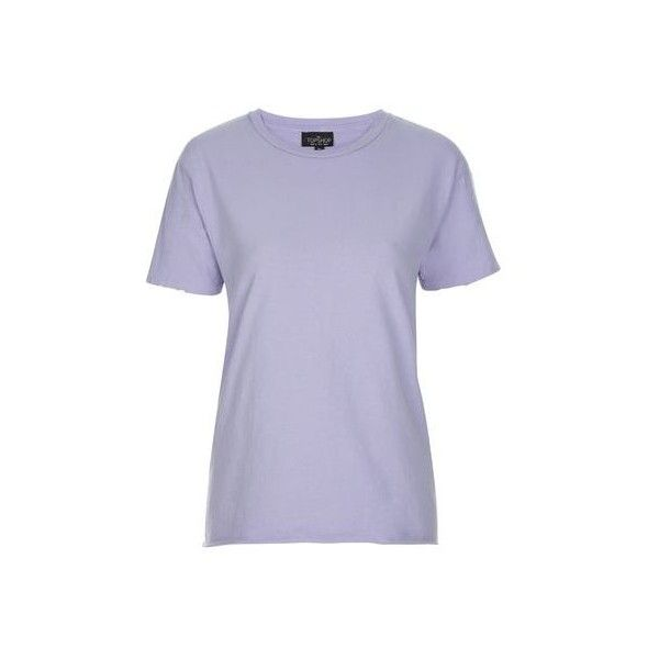TopShop Tall Nibbled Tee (29 AUD) ❤ liked on Polyvore featuring tops, t-shirts, lilac, destroyed t shirt, tall tops, distressed tee, basic t shirt and tall t shirts