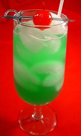 Midori Green Hornet (alcoholic beverage) from Food.com: This is a really good tropical drink. Not to mention pretty to look at.