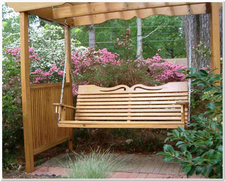 Metal porch swing frame woodworking projects plans for Outdoor swing frame plans