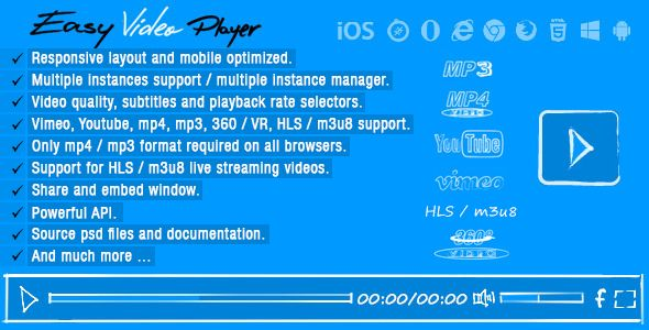 Easy Video Player | Code-Scripts-and-Plugins | Easy video, Videos