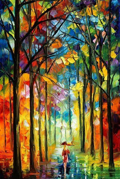 Reminds me of a stained glass window.. by Leonid Afremov