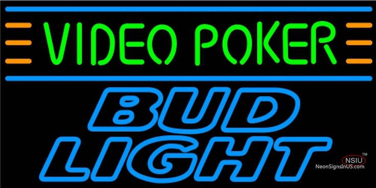 Bud Light Neon Video Poker Real Neon Glass Tube Neon Sign 7,Affordable and durable,Made in USA,if you want to get it ,please click the visit button or go to my website,you can get everything neon from us. based in CA USA, free shipping and 1 year warranty , 24/7 service