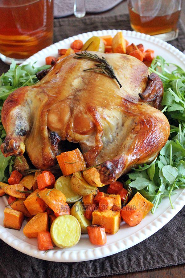 Mi Diario de Cocina | Pollo marinado al horno con vegetales | http://www.midiariodecocina.com/