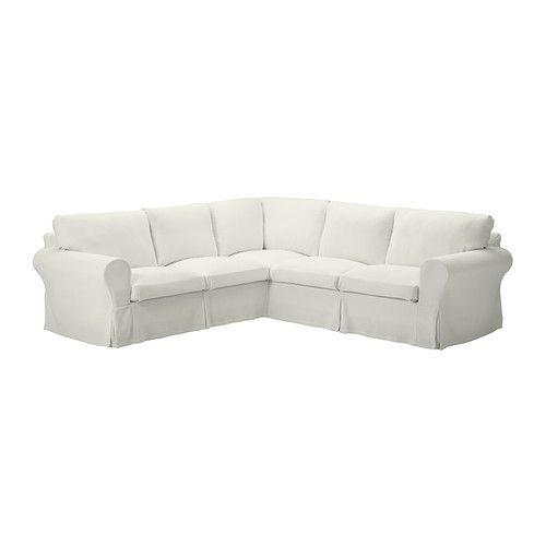 EKTORP Corner sofa 2+2 - Stenåsa white - IKEA