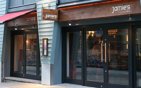Jamie Oliver, the celebrity chef's, fledgling Italian restaurant chain has     proved a hit with diners in Harden's UK Restaurant Guide 2010.