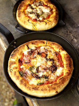Deep-pan pizza - http://www.jamieoliver.com/recipes/bread-recipes/deep-pan-pizza/#ZYVcOFP1AgQKPz0G.97 - https://www.youtube.com/watch?v=p0Q5paOBubk