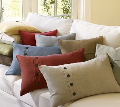 Pottery Barn Pillow in Flax (the pillow shown in the front)