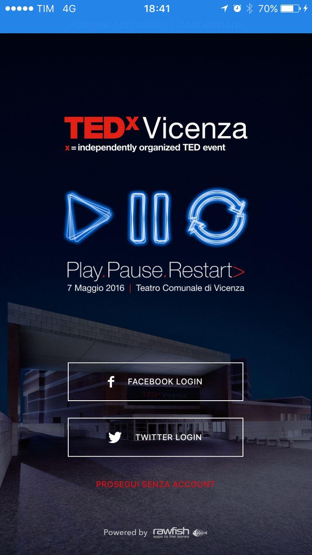 E' disponibile per il download l'app ufficiale di #TEDxVicenza! - Android > bit.ly/tedxvicenza-app-android iOS > bit.ly/tedxvicenza-app-ios - Abbiamo scritto una piccola guida all'uso: bit.ly/tedxvicenza-app Ci aspettiamo che la usiate il giorno dell'evento per condividere le vostre foto usando le skin in tema #PlayPauseRestart