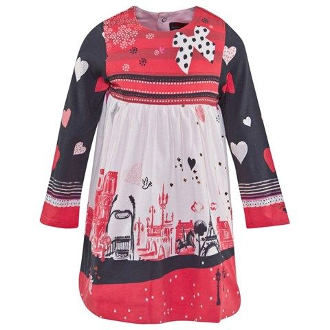 Pink Paris Scene Jersey Dress