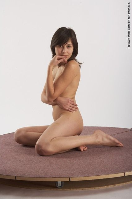 PHOTO OF NUDE WOMAN WHITE SITTING POSES - ALL SLIM LONG BROWN SITTING POSES - SIMPLE