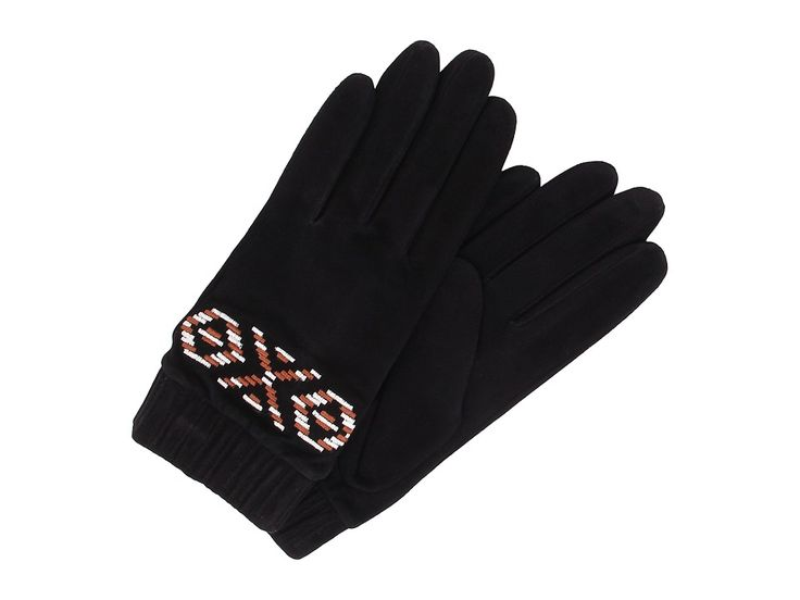 UGG UGG - CHAUNCE RUSTIC EMBROIDERED GLOVE (BLACK MULTI) EXTREME COLD WEATHER GLOVES. #ugg #