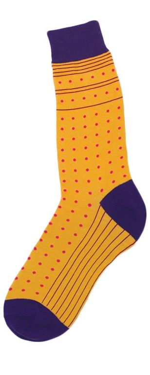 d439f8379d mango   purple polka dot socks Pinstripes and small dots create a dashing  good fashion look for menswear socks. Available in two colorways  Bright  mango ...