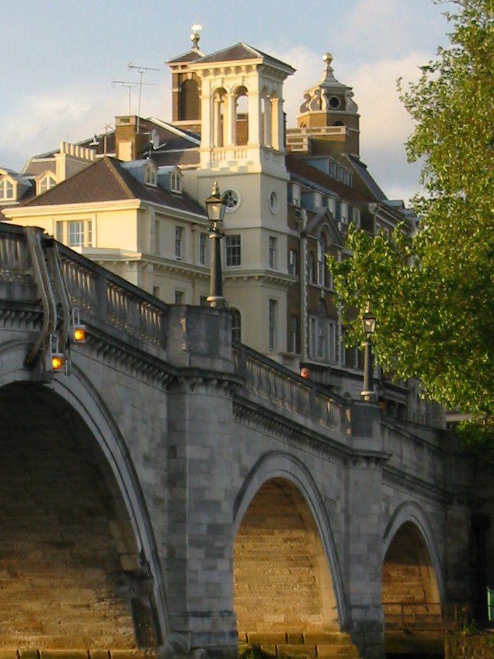 Richmond Bridge built in 1774 and the oldest bridge on the River Thames, Surrey, UK