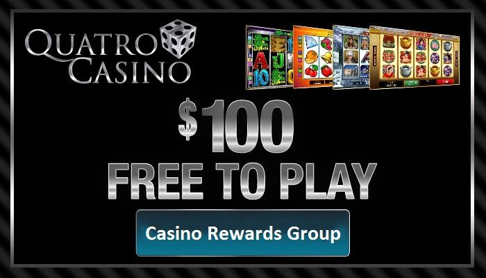 $100 FREE – ARE WE CRAZY? Well, it certainly seems that way! Quatro Casino is awarding all new players an incredible $100 in free Scratch Cards when they sign up today. Scratch your 4 cards quickly and discover what you have won. Then use your winnings to play a selection of online casino games, including blackjack, roulette slots and poker.     Remember that jackpots have been won from the free scratch card winnings – imagine making all that cash from using the casino's money!