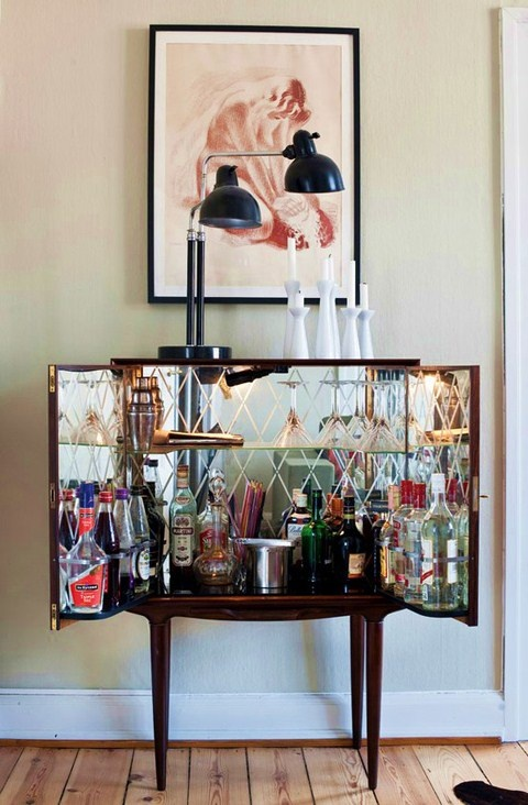 Mueble-bar interior espejo