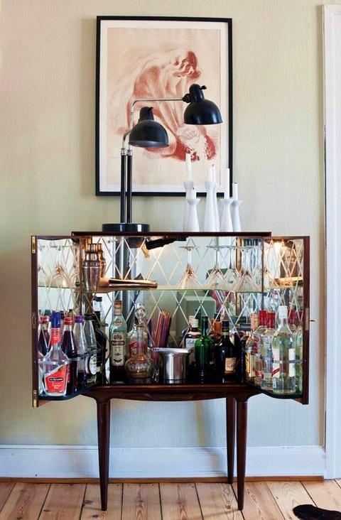 mueble bar interior espejo mueble bar muebles aparadores salones