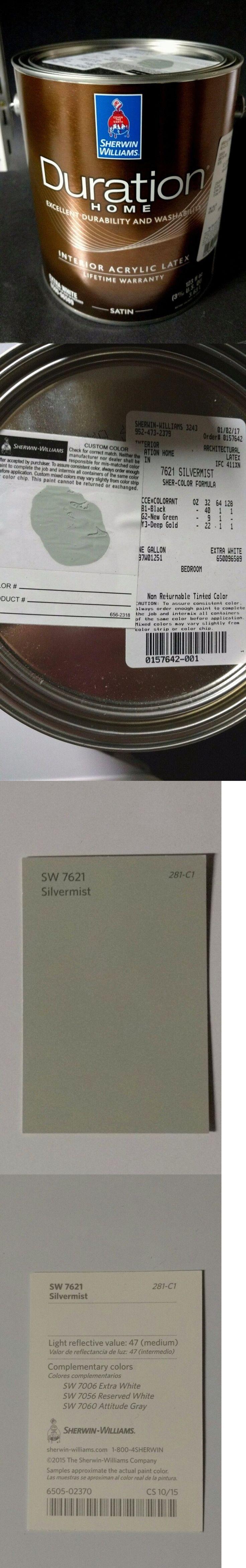 Paint 180164: Paint Latex Interior1 Gallon Acrylic 5 Sherman Williams New Satin Silvermist -> BUY IT NOW ONLY: $45.99 on eBay!