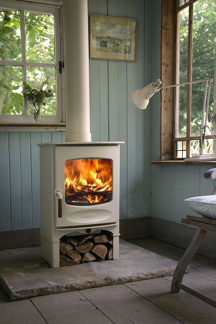 Charnwood C-Four woodburning stove by Ced Wells, via Flickr, want in the music or sunroom.  Someday when kids are older!
