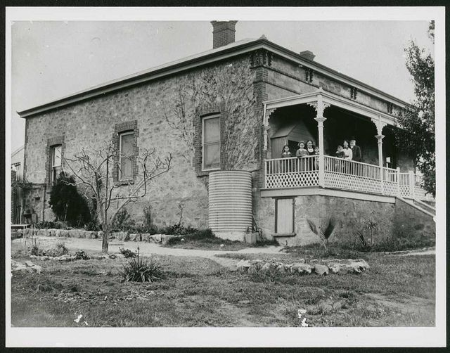 Residence at Murray Bridge, South Australia, ca. 1910 - JG Neumann's Home: large room used as school room for many years.