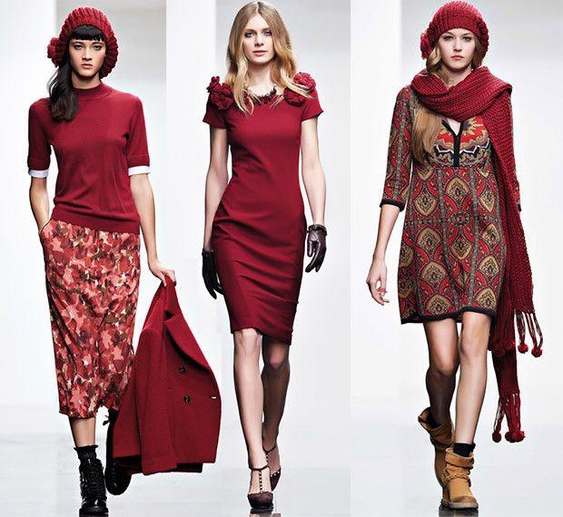 Twin Set vestito rosso autunno inverno