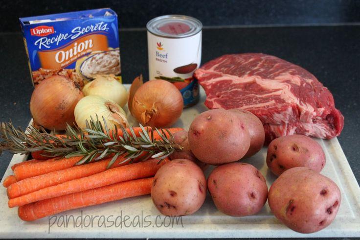 Easy Slow Cooker Pot Roast Dinner - Pandora's Deals