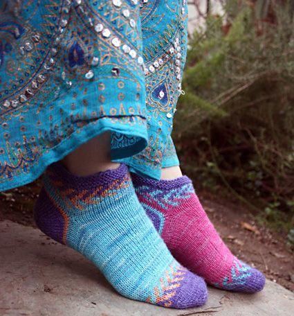 I love these socks from the Spring+Summer 2012 edition of Knitty! Definitely want to knit these one day soon.