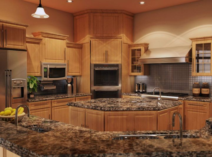 Image Result For Quartz Counter Tops With Oak Cabinets