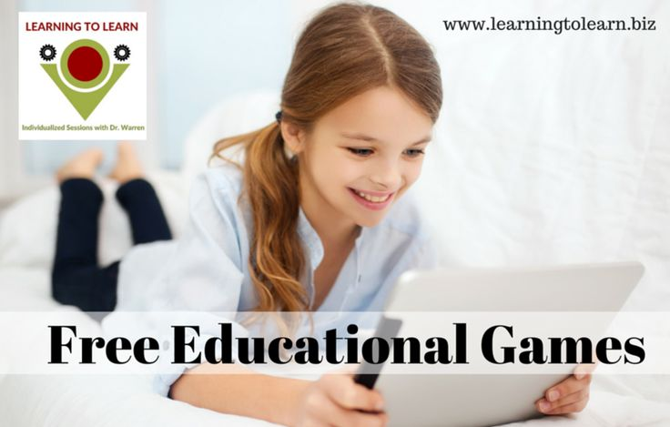 Free Educational Game recommendations by Dr. Erica Warren at Learning to Learn