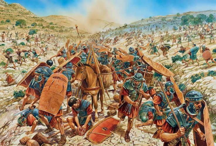 Legio XII Fulminata being ambushed and defeated by Eleazar ben Simon at Beit-Horon