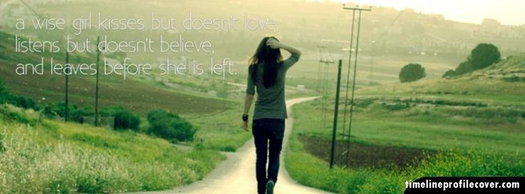 A Smart Girl Leaves Before Left