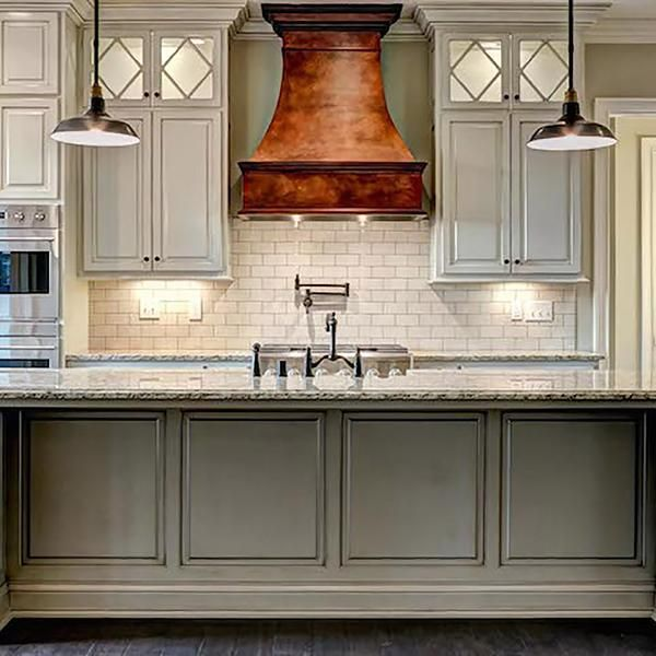 Custom Metal Ranges Hood Made Of Copper Home Kitchens Kitchen Range Hood Best Kitchen Cabinets