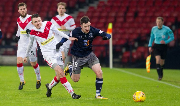 Queen's Park's David Galt in action during the SPFL League One game between Queen's Park and Airdrieonians.