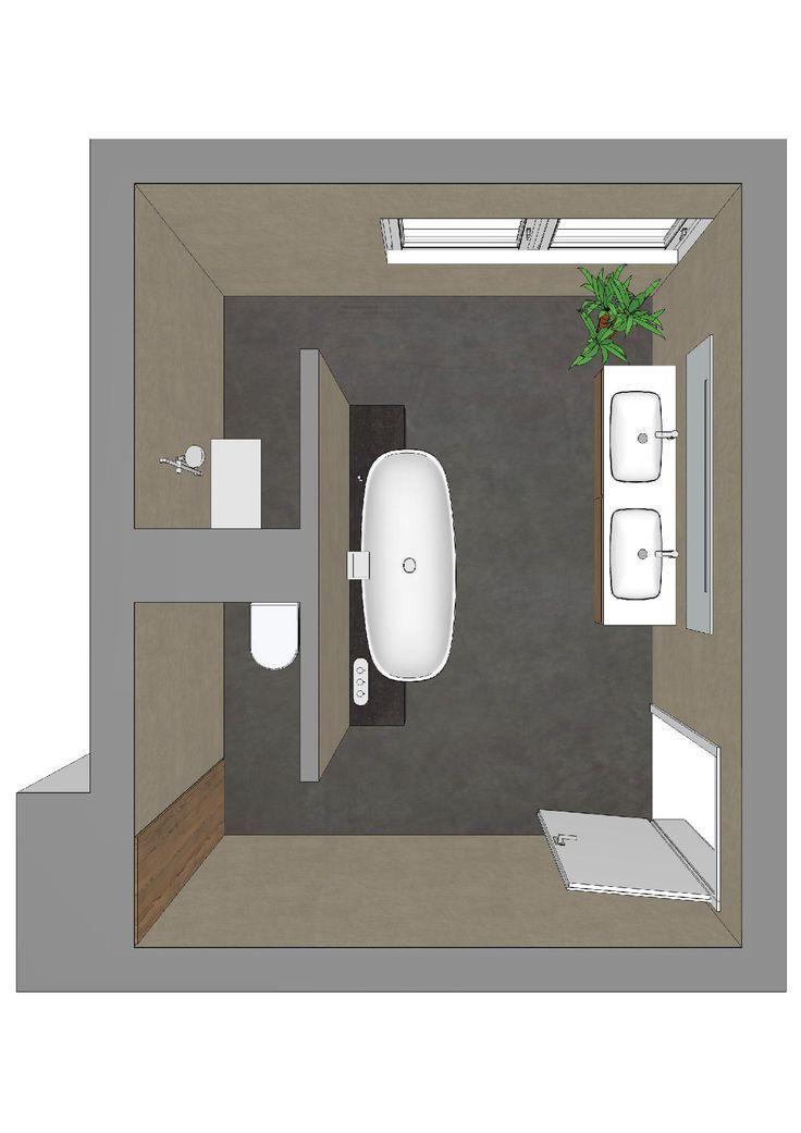 Badezimmerplanung mit T-Lösung                                                 …