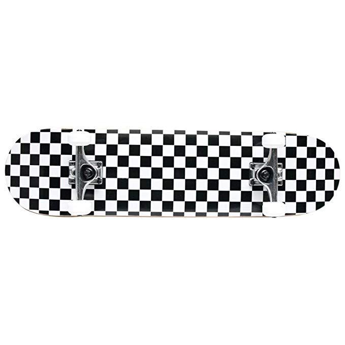 Pro Skateboard Complete Pre Built Checker Pattern 7 75 In Black White Review Complete Skateboards Skateboard Black Wheels