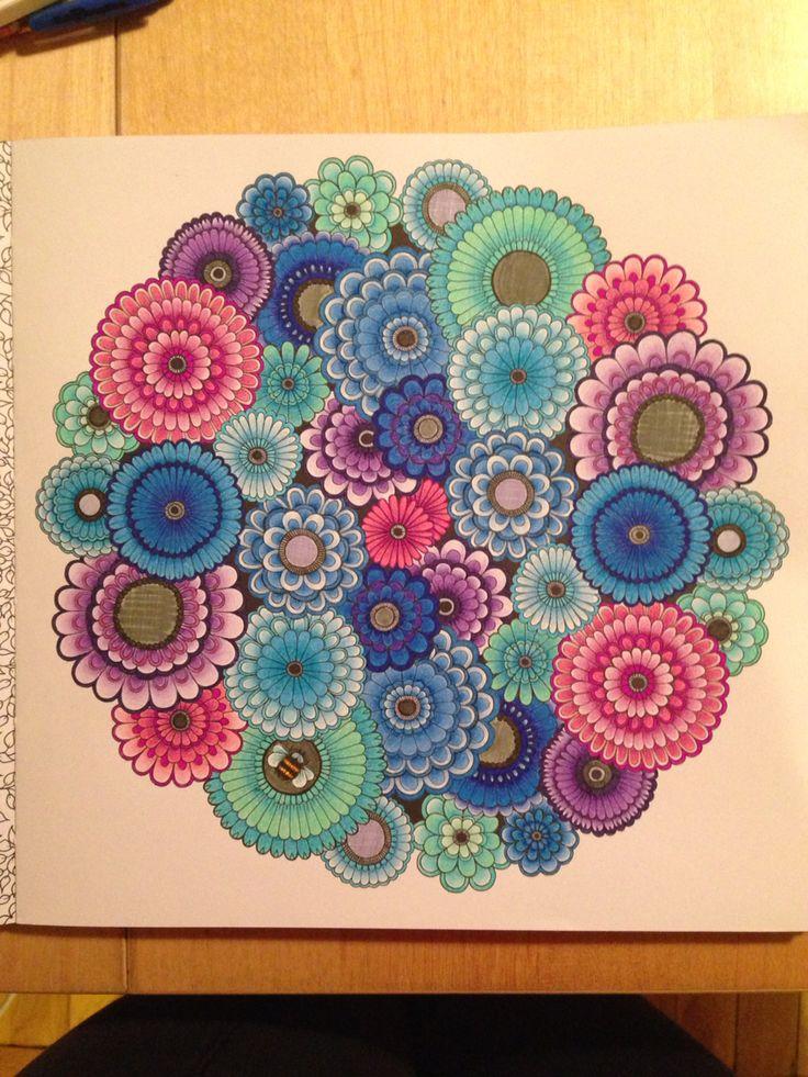 Secret Garden coloring book - flowers