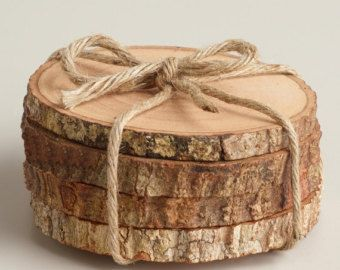 Rustic Tree Bark Coasters Wood Blank Wood by SomethingInTheBox