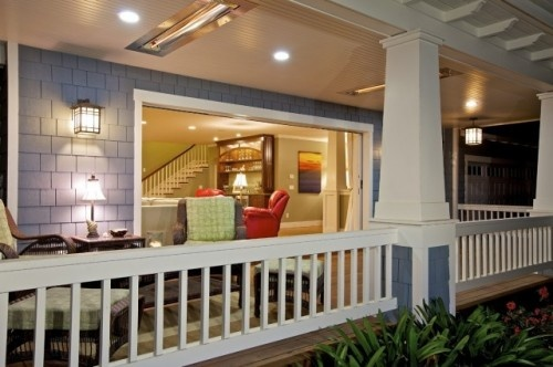 craftsman style- love this space!: Porches Lights, Craftsman Columns, Living Spaces, Front Porches Design, Rice Architects, Traditional Porches, Christian Rice, Covers Porches, Photo